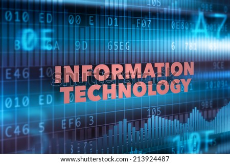 Information technology concept blue background with graph - stock photo