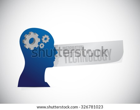 information technology thinking brain sign concept illustration design graphic - stock photo