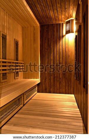 Infrared sauina in a SPA centre - stock photo