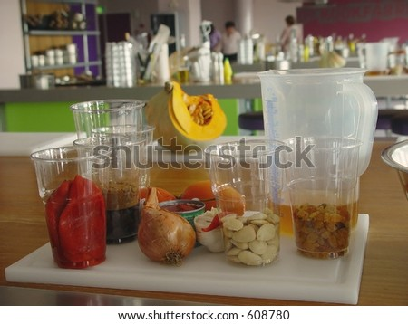 Ingredients for cooking class - stock photo
