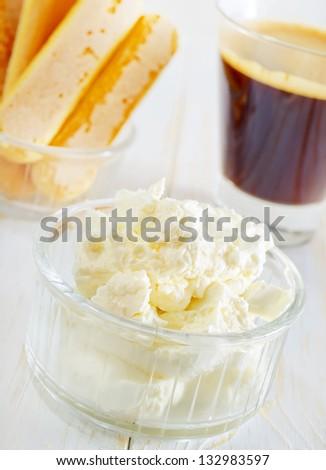 ingredients for tiramisu - stock photo