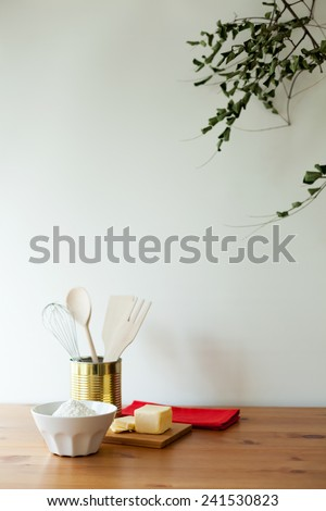 Ingredients to bake - stock photo