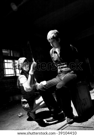 injection - stock photo