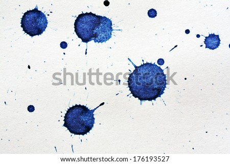 ink blot on a textured paper - stock photo
