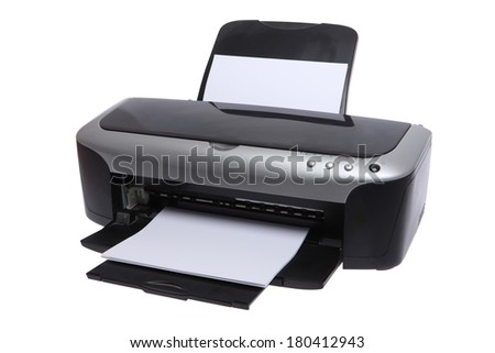 Ink jet printer - stock photo