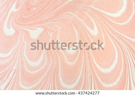 Ink marbling texture. Ebru creative background with abstract painted waves. Horizontal writing surface, endpapers in bookbinding and stationery. Unique wallpaper art illustration. Mineral texture. - stock photo