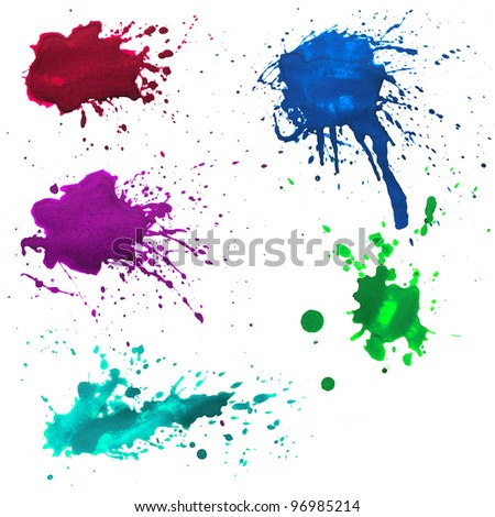 ink spatters. - stock photo