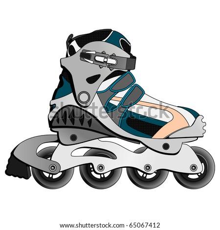 Inline Skate Boot - stock photo