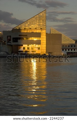 Inner Harbor at late afternoon, Baltimore, Maryland - stock photo