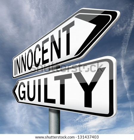 a guilty or innocent way a 'guilty until proven innocent':  it is such a stigmatised accusation that it doesn't feel as if you're innocent before being proven guilty, but the other way round.