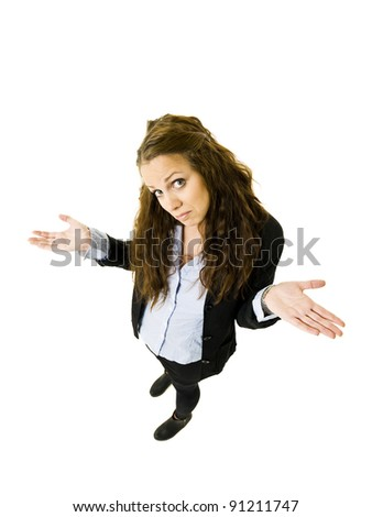 Innocent Woman from High Angle view - stock photo