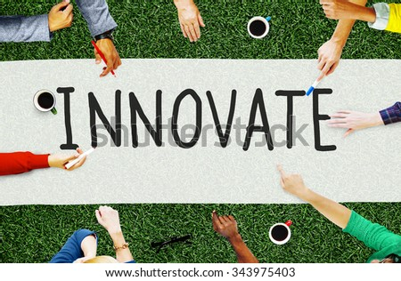 Innovate Innovation Ideas Inspiration Invention Concept - stock photo