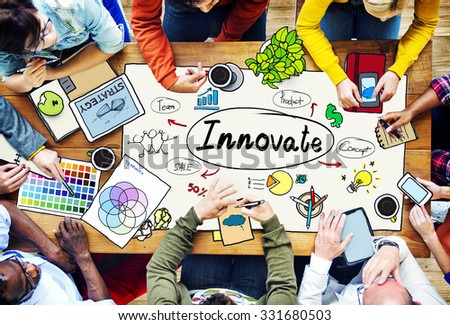 Innovate Innovation Planning Inspiration Ideas Concept - stock photo