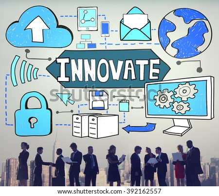 Innovate Innovation Technology Connection Network Concept - stock photo