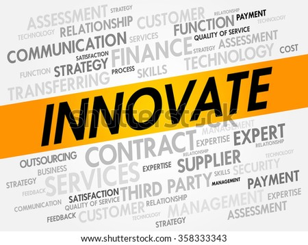 INNOVATE word cloud, business concept background - stock photo