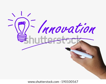 Innovation and Lightbulb Showing Ideas Creativity and Imagination - stock photo