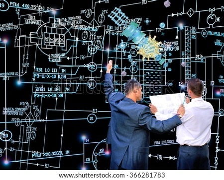 Innovation connection technology.Engineer.Generation technology - stock photo
