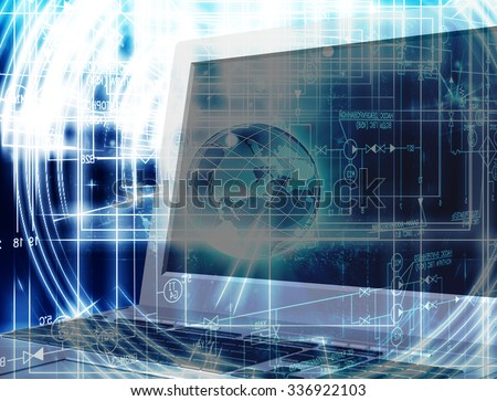 Innovation connection technology.Generation computer innovation - stock photo
