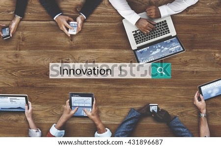 Innovation Creative Development Ideas Invention Concept - stock photo