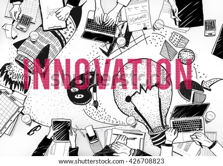 Innovation Ideas Creativity Imagination Light Bulb Concept - stock photo
