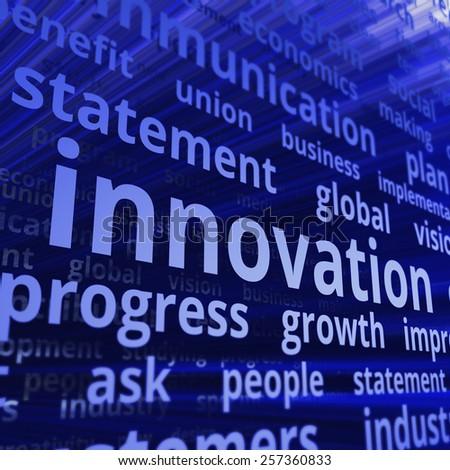 Innovation internet. Text illustration concept - stock photo