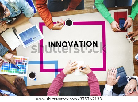 Innovation Technology Motivation Ideas Innovate Concept - stock photo