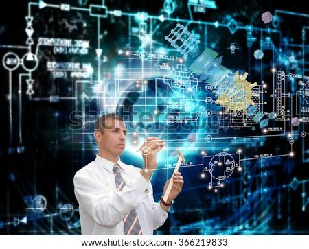 Innovation telecommunications technology. - stock photo