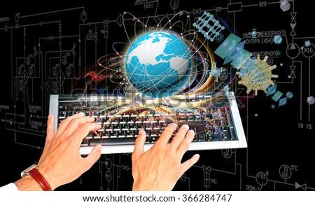 Innovative internet technology - stock photo