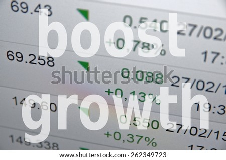 "Inscription ""Boost growth"" - stock photo"