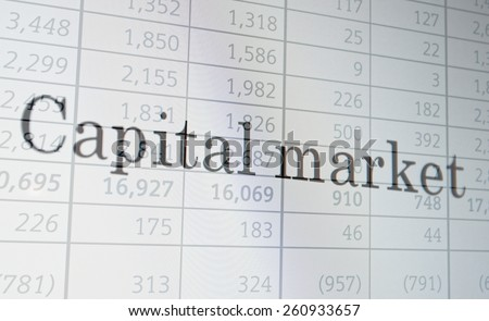 "Inscription ""Capital market"" on PC screen. Financial concept. - stock photo"