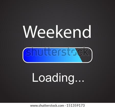 "inscription ""loading Weekend"" concept illustration background  - stock photo"