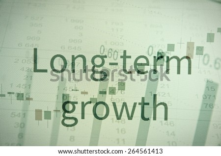 "Inscription ""Long-term growth"". Corporate earnings concept. - stock photo"