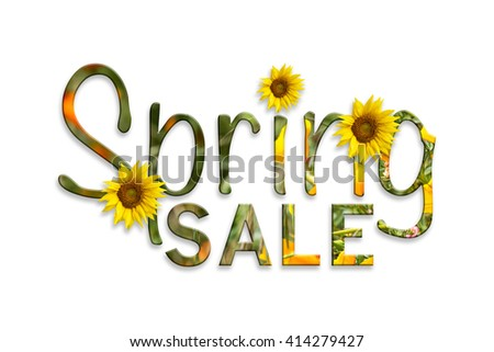 inscription spring sale - stock photo