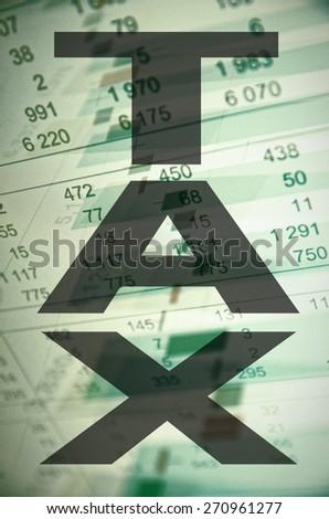 "Inscription ""Tax"" on PC screen. - stock photo"