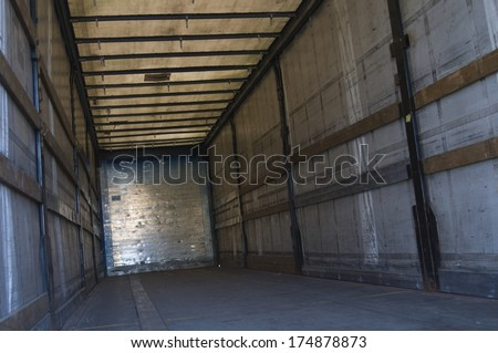 Inside a truck - stock photo