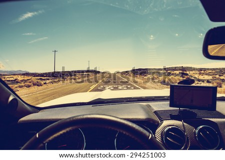 Inside Car - stock photo