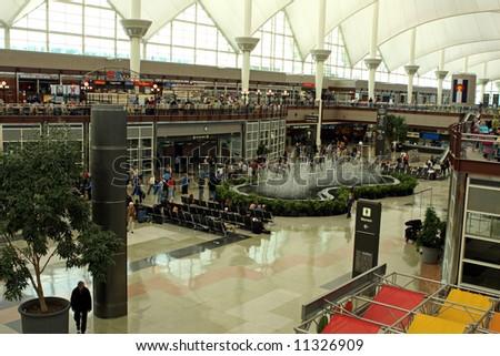 Inside Denver International Airport - stock photo