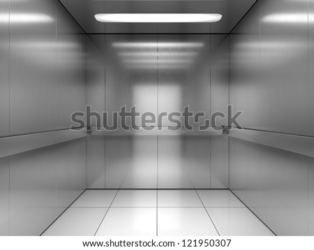 Inside of elevator - stock photo