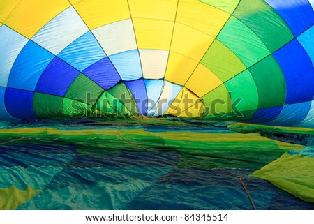 inside of hot air balloon - stock photo