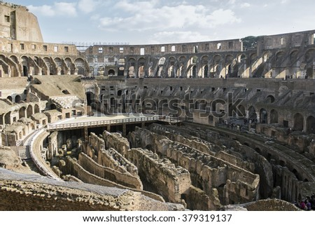 Inside the Coliseum - stock photo