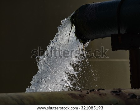 Inside the Desalination plant Views around Curacao a Caribbean Island in the ABC islands - stock photo