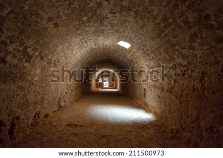 Inside the Fortezza of Rethymno city, Greece. - stock photo