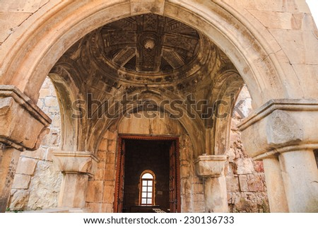 Inside The Gelati Monastery Complex near Kutaisi, Georgia - stock photo