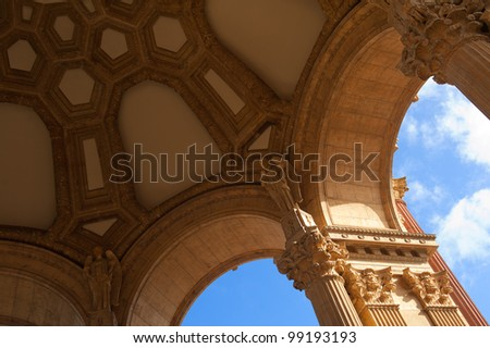 Inside the Palace of the Fine Arts - stock photo