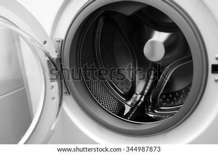 inside washing machine macro shot - stock photo