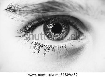 insightful look eyes boy - stock photo