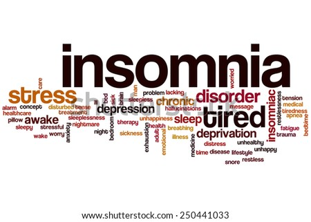 Insomnia word cloud concept - stock photo