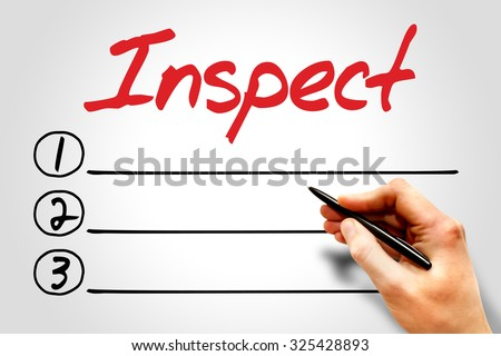 Inspect blank list, business concept - stock photo