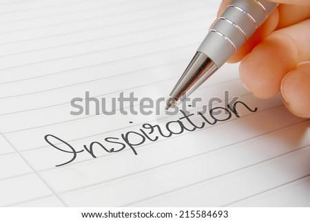 inspiration word handwriting - stock photo
