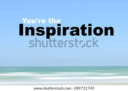 Inspirational motivating quote on motion blur background - stock photo